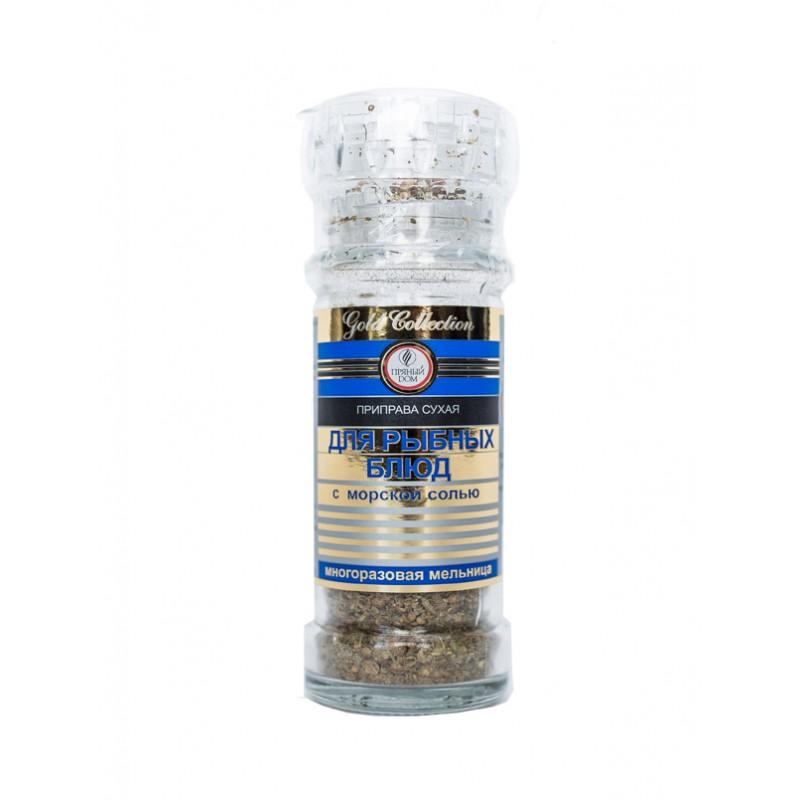 """Приправа """"Для рыбных блюд"""" с морской солью в банке"""